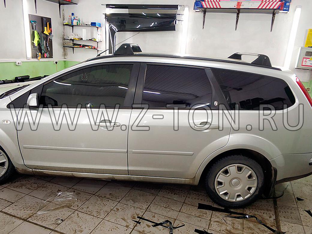Тонировка Ford Focus 2 передние стекла съемной тонировкой 15%