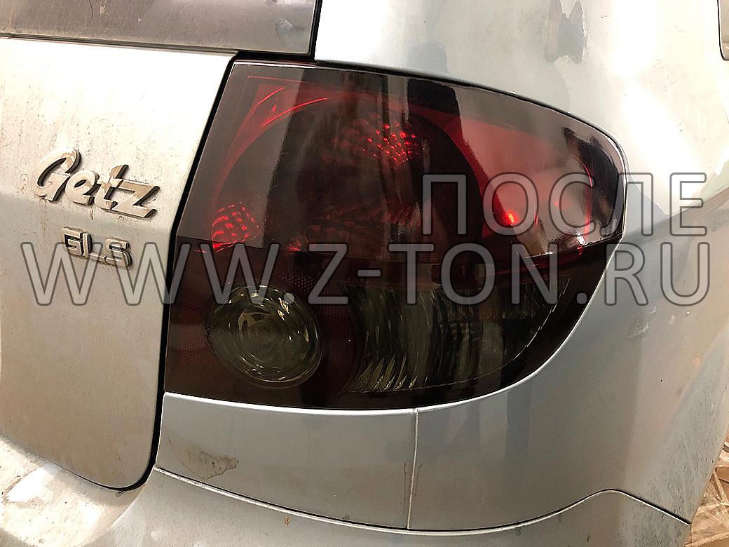 Тонировка фар и фонарей Hyundai Getz