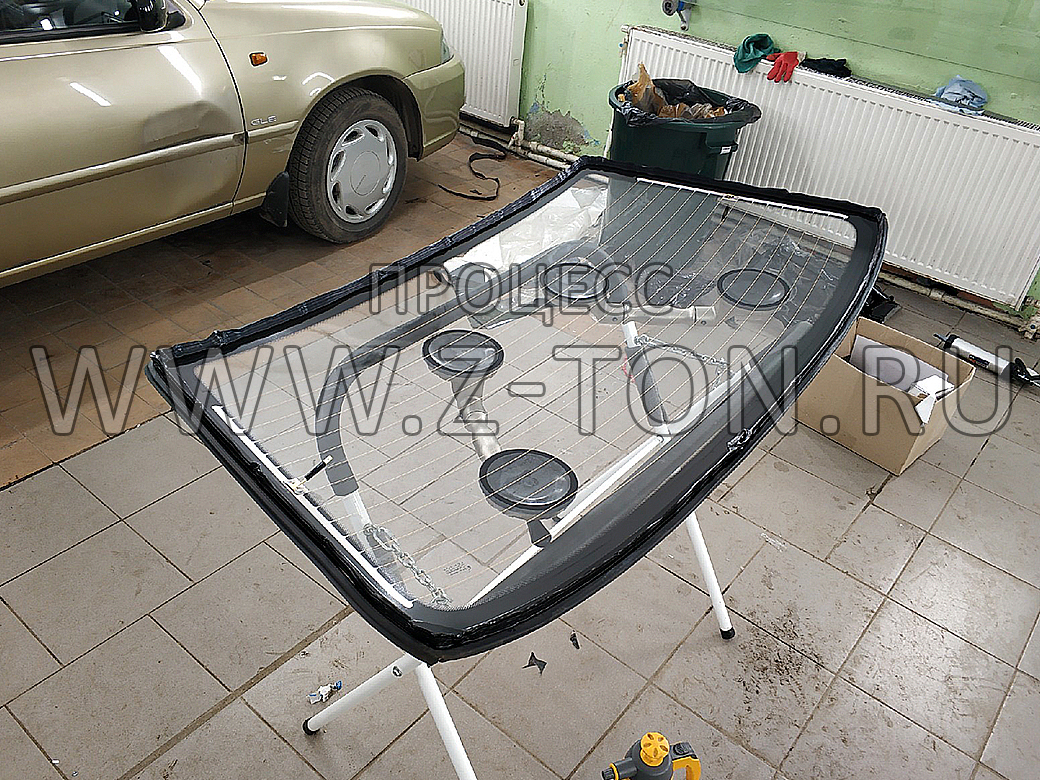 Замена заднего стекла Daewoo Nexia