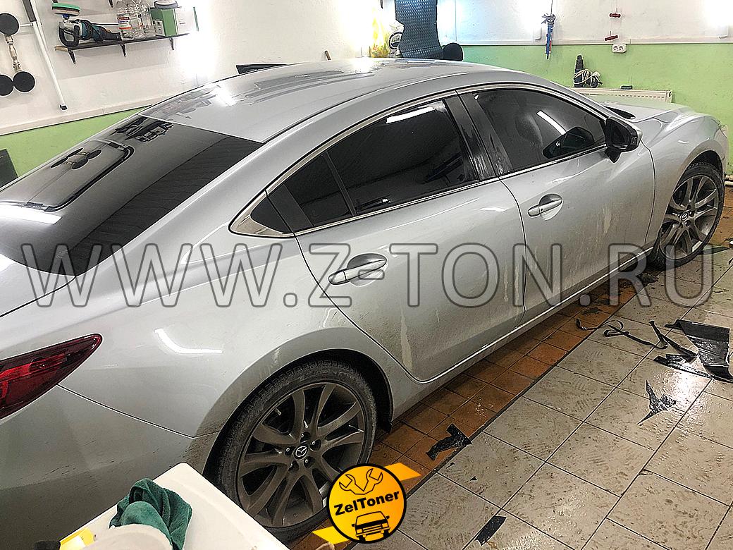 Mazda 6: Тонировка Мазда 6 - передние стекла в съемную многоразовую плёнку 5%, задняя полусфера в 5%, лоб в 35%